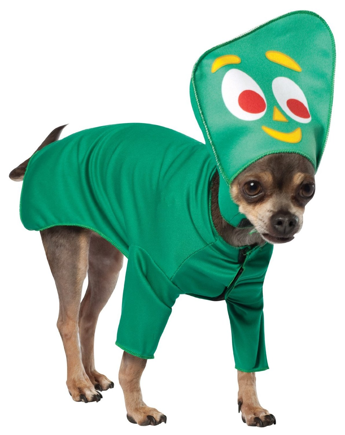 everyone remembers this claymation figure from childhood check out the gumby dog costume