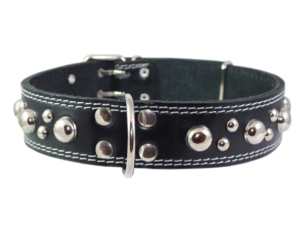 Black Leather With Studs Collar: Best Dog Collars for Large Dogs