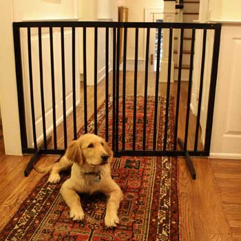 Cardinal Extra Tall Free Standing Gate Best Dog Gates For Large Dogs: This is perfect for those taller breeds of dogs.