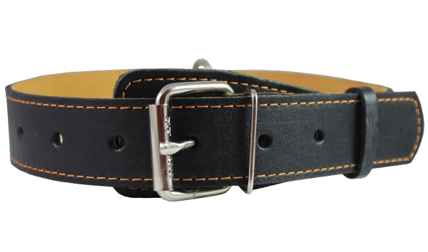 Classic Black Leather Dog Collar: Best Dog Collars for Large Dogs