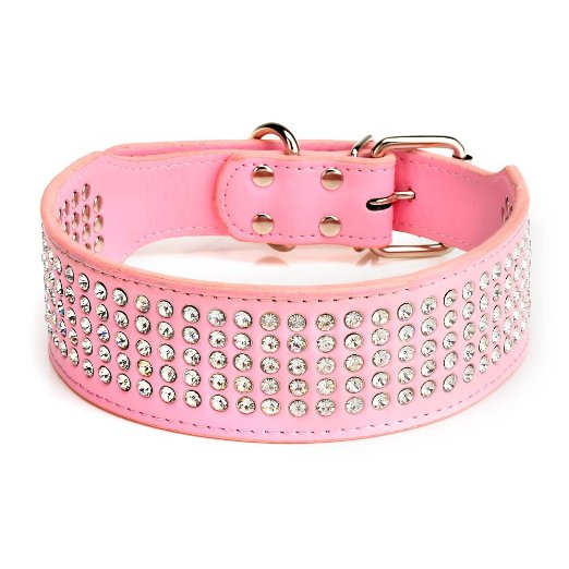 Pink Rhinestone Dog Collar: Best Dog Collars for Large Dogs
