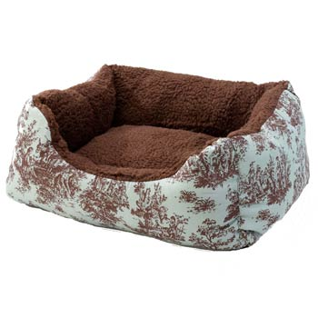 Alphapooch Cuddler Toile Coco Pet Bed Dog Beds For Small Dogs
