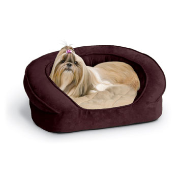 K&H Deluxe Ortho Bolster Sleeper Dog Bed Dog Beds For Small Dogs