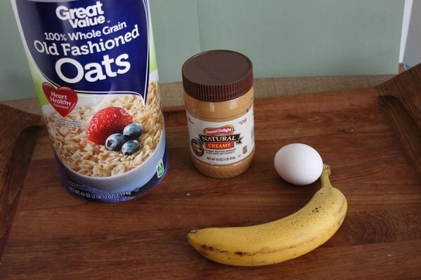 Peanut Butter Banana Dog Treats Recipe ingredients