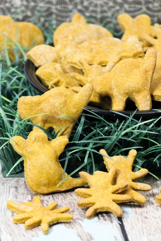 Whip up a batch of these Halloween hypoallergenic dog treats to give your dog a fun reward & make his hypoallergenic dog food more fun!