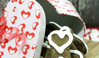 This Valentine's Day dog treat recipe is such a cute way to show Fido how much you love him on February 14th! It's easy to make! Check it out!