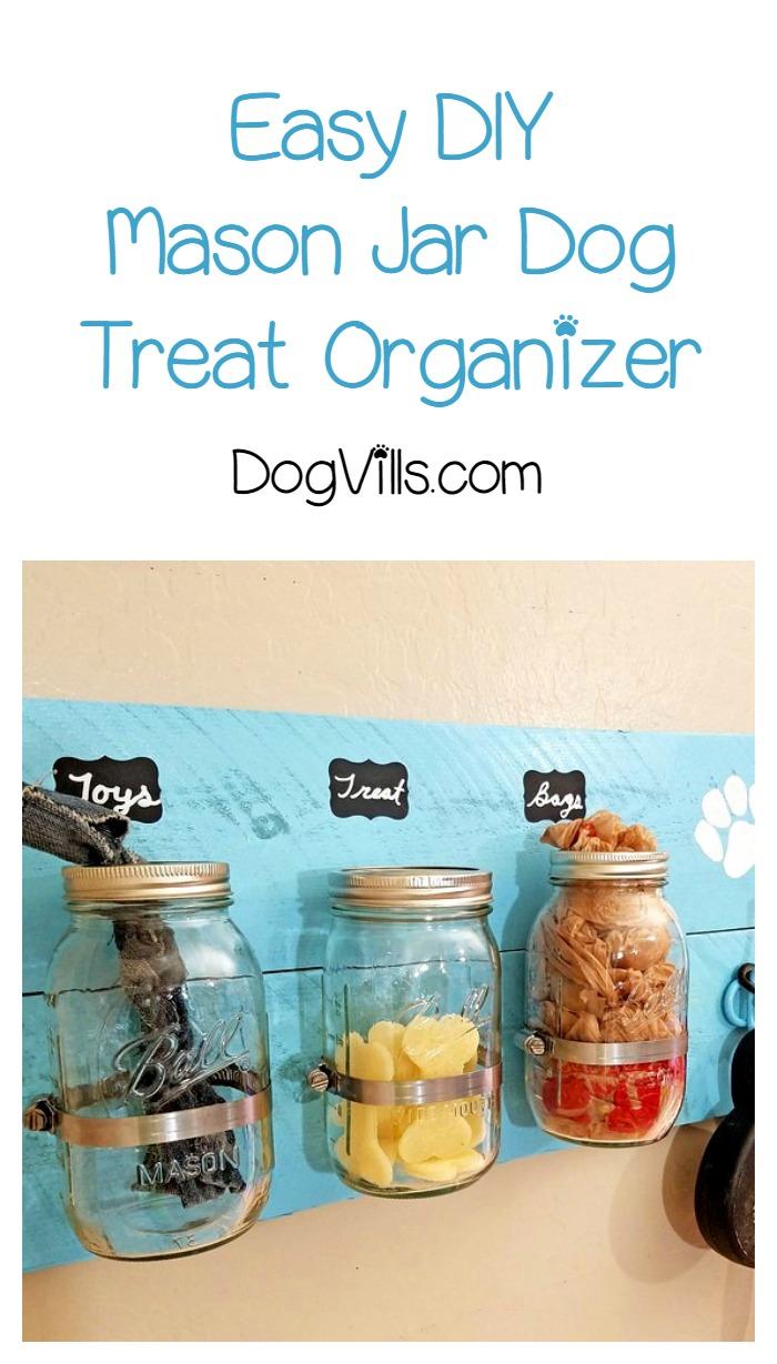 DIY Mason Jar Dog Treat & Accessories Holder With Video