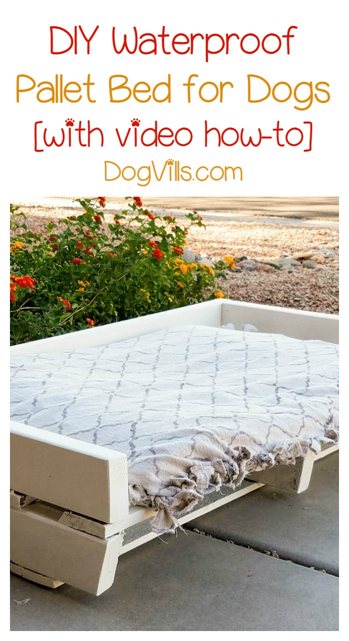 Homemade Dog Bed Project Diy Waterproof Pallet Bed