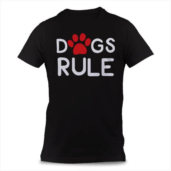Dog Rule: Funny saying on a dog lover t-shirt for humans