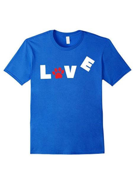 Cute Love My Dog Sign with paw imprint- perfect dog t-shirt for humans