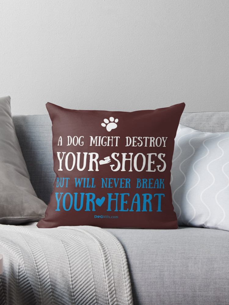 Throw pillows make great gift ideas for dog lovers! We adore this one!