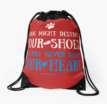Tote Bag with funny dog saying: A dog might destroy your shoes but will never break your heart. A must have or gift idea for Christmas.