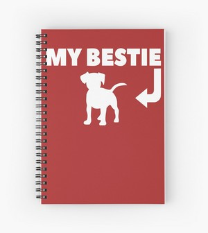 My bestie is my dog spiral notebook great gift idea for dog lovers