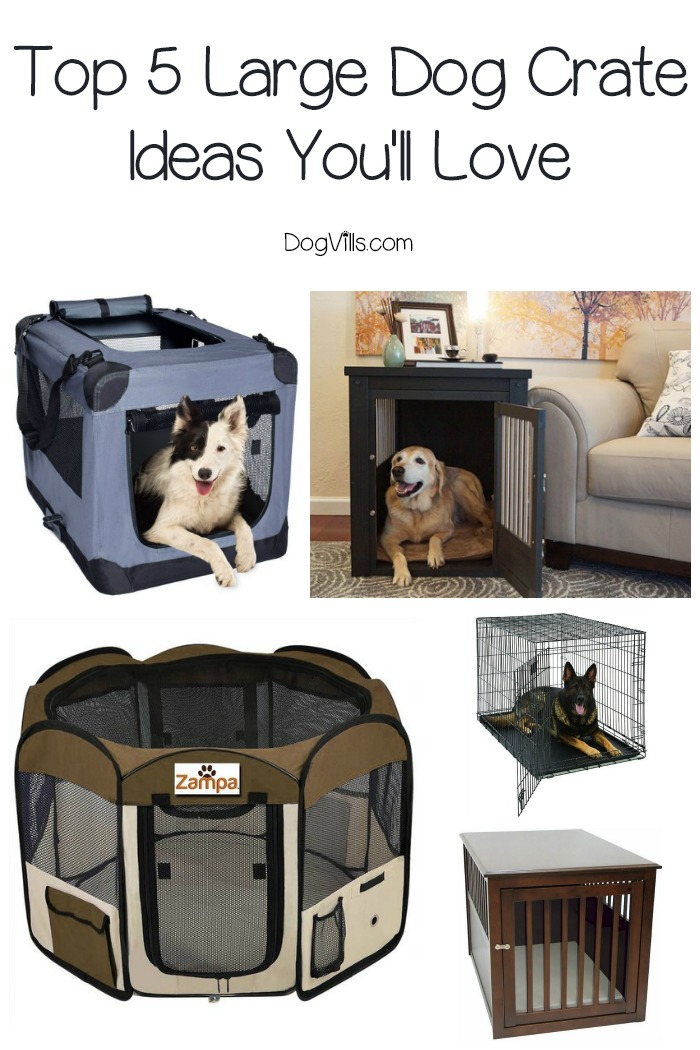 Top 5 large dog crate ideas you39ll love dogvills for Job lot dog crate