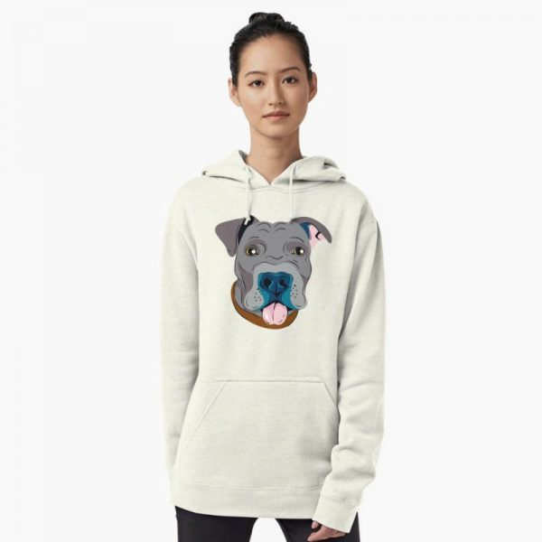 Dog Lover's Sweatshirts: Pit bull graphic hoodie