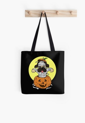 A fun Halloween design for dog lovers of all ages! This sweet mummy dog in a Jack-o-Lantern makes for a great shirt to wear while Trick or Treating, or a cute way to add a little dog-centric Halloween decor to your home!