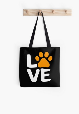 Dog Lovers Tote Bags Dog Gift Idea Halloween paw
