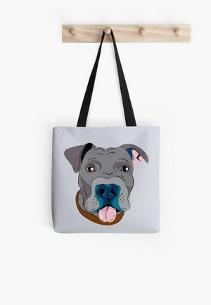 Need the perfect gift idea for a pit bull dog lover in your life? This fun design looks fabulous on everything from t-shirts and other apparel to home decor and phone cases!