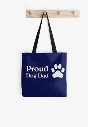 Dog Lovers Tote Bags Dog Gift Idea Proud Dog Dad