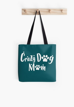 Dog Lovers Tote Bags Dog Gift Idea crazy dog mom