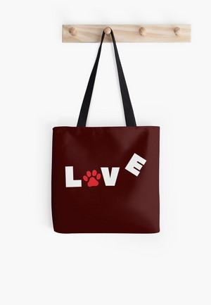 Dog Lovers Tote Bags Dog Gift Idea love paw
