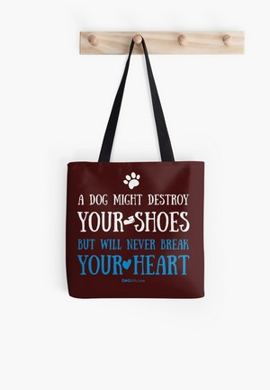 Dog Lovers Tote Bags Dog Gift Idea never break