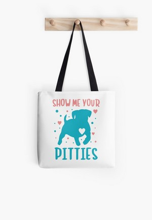 This super cute collection is a clever and fun way to show off your love for pit bull dogs!