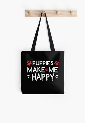 Dog Lovers Tote Bags Dog Gift Idea puppies make me happy