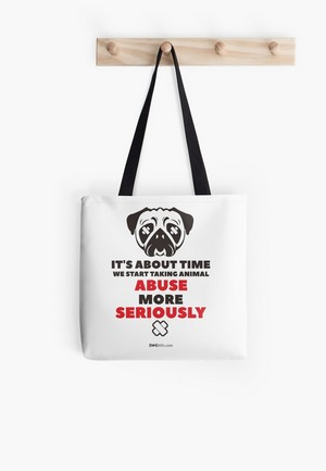 Dog Lovers Tote Bags Dog Gift Idea stop animal abuse