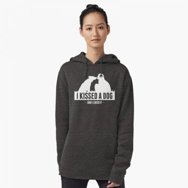 I kissed a dog saying: dog lovers themed hoodies
