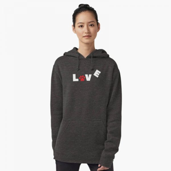 Paw Love: dog lovers themed hoodies