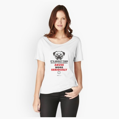 "This ""No Excuse For Animal Abuse"" t-shirt helps raise awareness about animal abuse. This line speaks for those who can't speak for themselves."