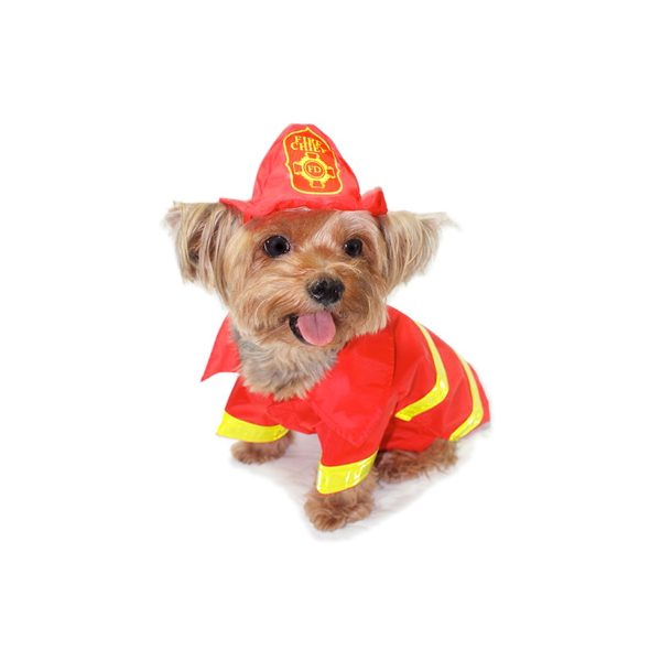 The cutest fireman costume for your dog!