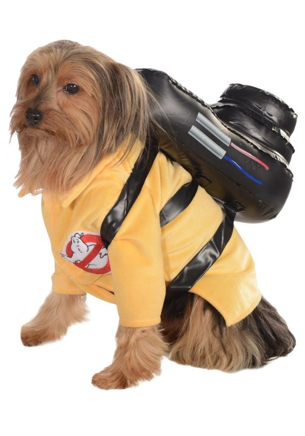 Ghostbusters dog costume for Halloween