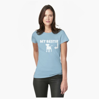 This Dog T-Shirt for people is a perfect gift idea for new dog parents. They will wear it proudly and happily. After all, their dog is their bestie, isn't it? Get it today and put a smile on a dog lover! Also available in other fun dog lovers accessories!