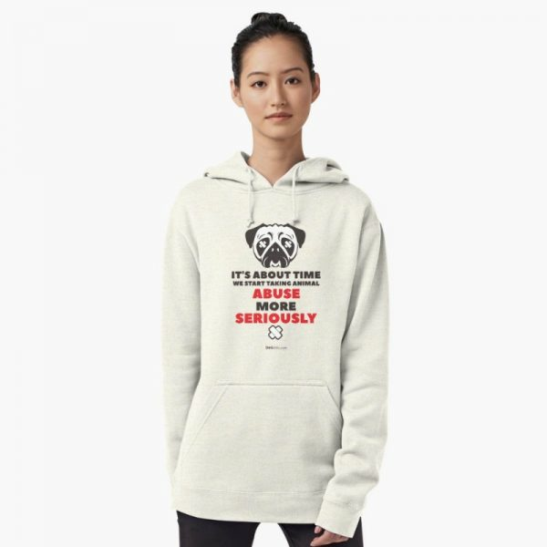 Dog Lover's Sweatshirts: Take animal abuse seriously hoodie