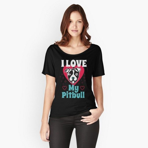 Dog shirts for humans: I love my pit bull shirt