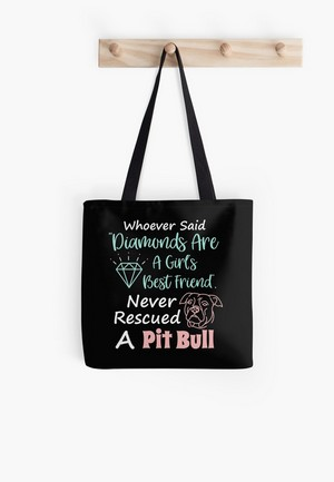 'Rescued A Pit Bull Tote Bag