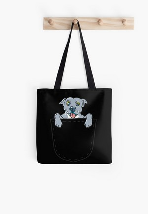 Dog Lovers Tote Bags pocket pit