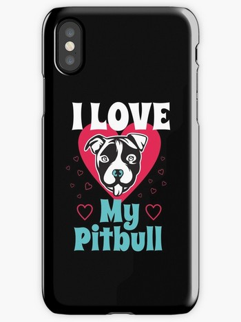 Dog Lovers iPhone cases love my pitbull