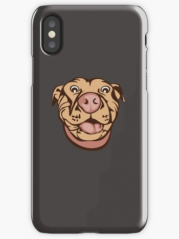 Dog Lovers iPhone cases pit bull drawing