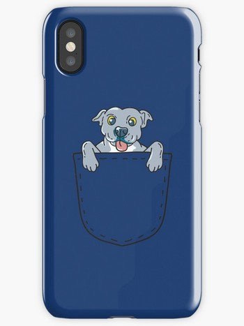 Dog Lovers iPhone cases pocket pit bull