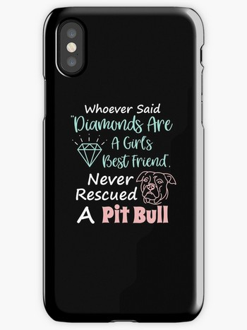 Dog Lovers iPhone cases rescued a pit bull