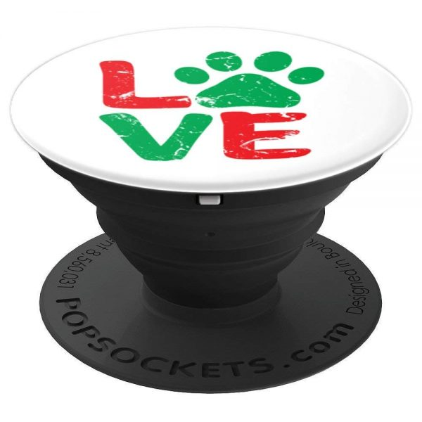 Love With Paw Print Christmas