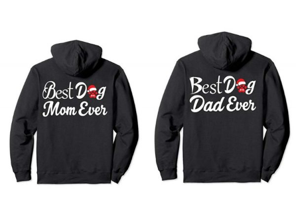 best dog mom and dad ever christmas hoodies