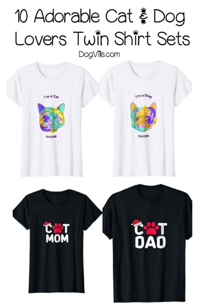 20 Adorable Cat & Dog Twin Shirt Sets for Pet Parents