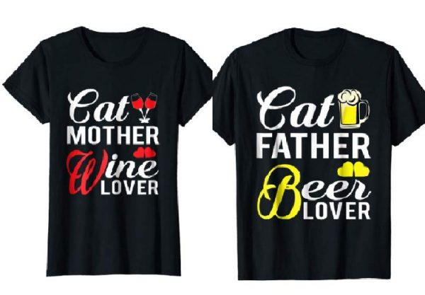 Funny Cat Mom & Dad T-Shirts