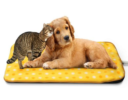 Best heated dog beds: fluffy paws indoor pet bed warmer electric heated pad