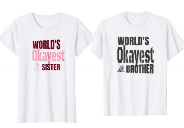 okayest dog sister brother tshirt