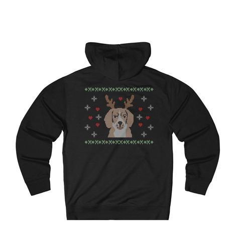 Beagle with Reindeer Antlers Christmas Sweater for dog lovers